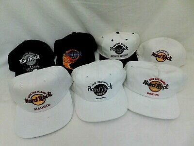 HARD ROCK CAFE BASEBALL CAPS BOSTON MADRID JAKARTA HONG KONG ATLANTA TORONTO