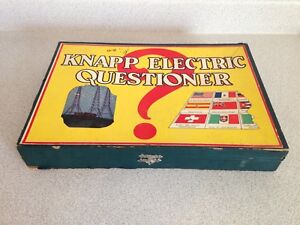 Antique Knapp Electric Questioner Learning Game