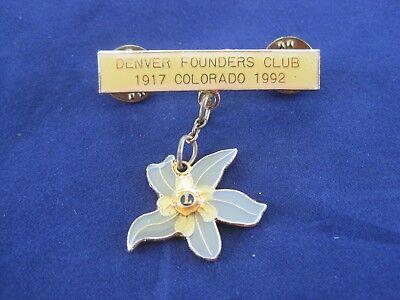 "Denver Founder's Club 1917-1992 Lions Pin 1 3/4"""