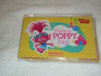New Dreamworks Trolls Have A Poppy Day Sticky Note Set