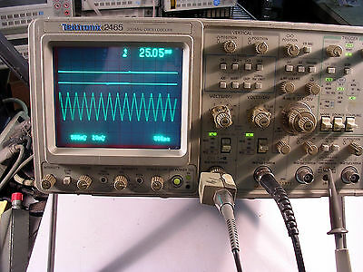 Tektronix Tek 2465 300 Mhz Oscilloscope With Opt 1r 05