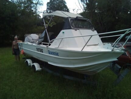 Clark Alum Trailer Boat, 19ft, 115hp 2S Yam V4 + 18hp 2S Low Hrs