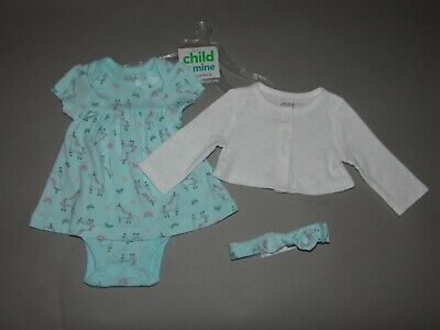 Baby girl clothes, Newborn, Carter's 3 piece Cardigan set