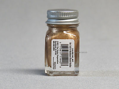 TESTORS PAINT METAL GOLD ENAMEL 1/4oz JAR 7.4ml plastic model car 1144 NEW