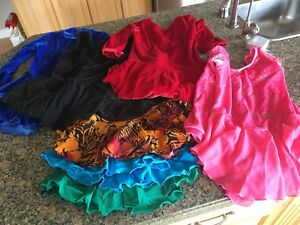 Bag of skating dresses & skirts