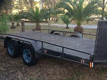 Tilting 3t flat bed trailer Hillcrest Logan Area Preview