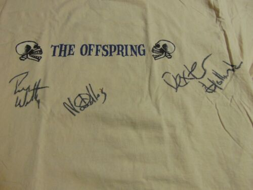Rock TShirt Authentic THE OFFSPRING 1997 Ixnay On The Hombre Autographed x 3 NEW