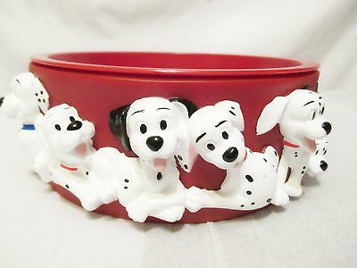 101 DALMATIONS Alpo Dog Puppy Bowl Water Food 3D Disney Vintage 90's Collectable
