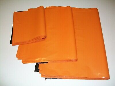 50 ORANGE mix sizes Mailing Poly Postal Bags Postage Packaging Mailers Envelopes