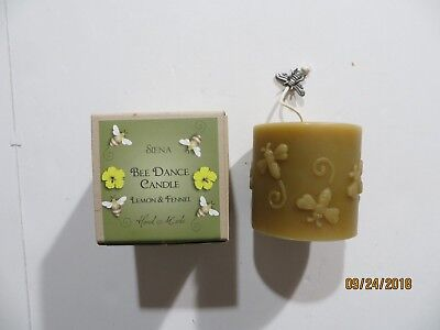 Siena Bee Dance Candle Lemon & Fennel Hand Made with Box