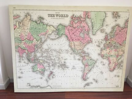 World map mounted poster miscellaneous goods gumtree australia world map photo gumiabroncs Choice Image