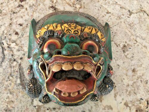 Balinese Demon Hand Carved Wooden Maske