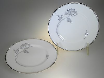 Royal Doulton Allure Platinum Bread & Butter Plates Set of 2 NEW WITH TAGS