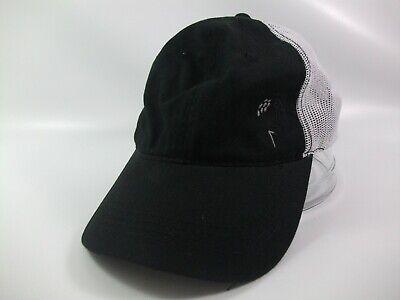 Black Tee Cap (Golf Ball on Tee Hat Black White Strapback Trucker Cap)
