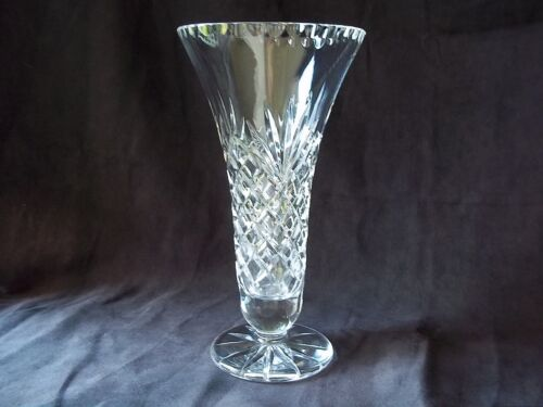 Vintage Galway Signed Crystal Cut Glass Fluted Incised