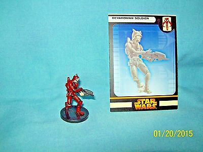 WotC Star Wars Miniatures Devaronian Soldier, RotS 44/60, Fringe, Common
