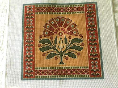 """Handpainted High Quality Needlepoint Canvas Arts & Crafts Art Deco 15"""" X !5"""" #13"""