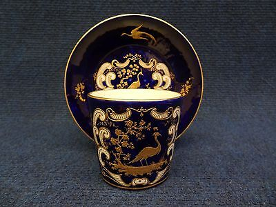 Arras Porcelain Cup   Saucer Blue Enamel And Gilded Decoration
