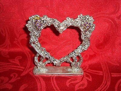 Heart Pewter Cake - Fellowship Foundry Pewtersmith Vine Heart Pewter Wedding Cake Topper