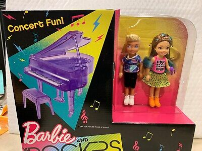 BARBIE AND THE ROCKERS 2 DOLL SET CHELSEA AND TOMMY DOLLS WITH PIANO HTF