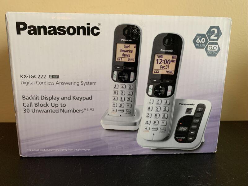 Panasonic DECT 6.0 Plus Cordless Phone Large LCD Answering Machine Home Phone