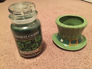 Yankee Candle Large Jar, Lucky Shamrock and Leprechaun Top Hat