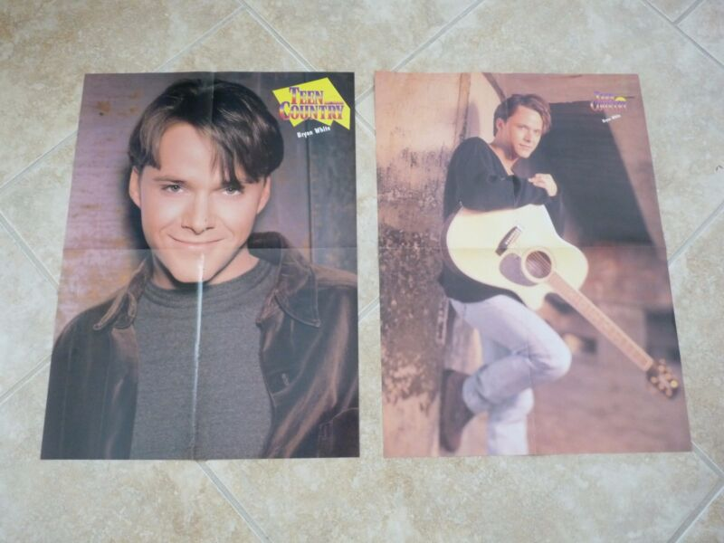 2 Vintage Bryan White Country Music 15x20 Posters Paul Brandt & Rhett Akink