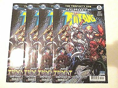 4 Titans #14 Dc Universe Rebirth Lot The Tempest's Vow Trident Make Me an Offer