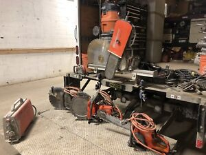 Wall saw 482 with all attachments