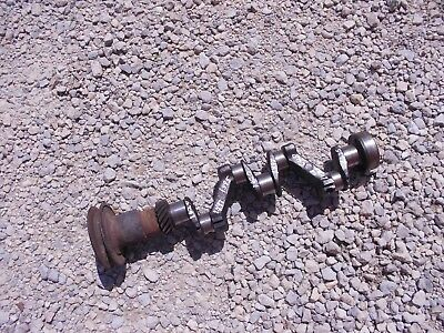 Farmall Cub Tractor Ih Engine Motor Crankshaft Crank Shaft Drive Gear Pulley