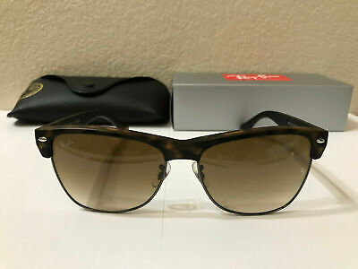 Ray Ban CLUBMASTER OVERSIZED sunglasses Tortoise / Brown Gradient Lens (Clubmaster Shades)