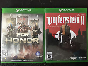 Jeux xbox one: Wolfenstein 2 the new colossus, For Honor