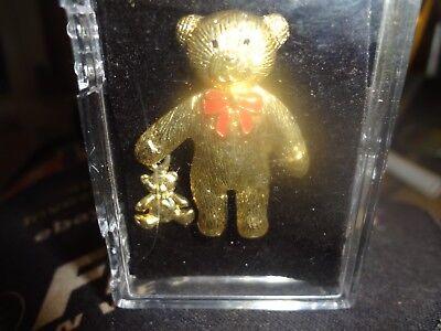 Mama Bear Baby Bear - Mama Bear & Baby Bear Gold Tone Brooch NEW