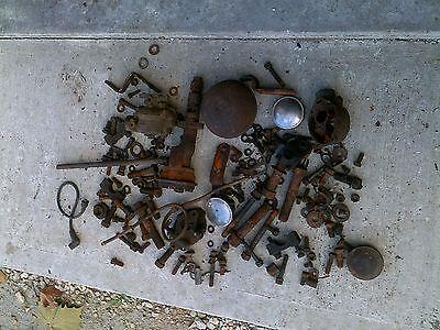 Minneapolis Moline Mm R Tractor Carburetor Box Of Parts Nuts Bolts Misc Caps
