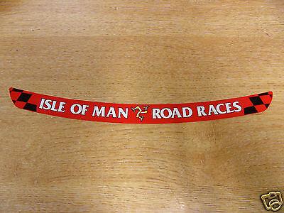Isle of Man Road Races - TT Visor Decal Sticker - RED