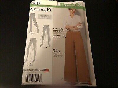 Simplicity Pattern 1017 Misses AMAZING FIT Pants w/Leg Width & Length Variations Simplicity Misses Pants