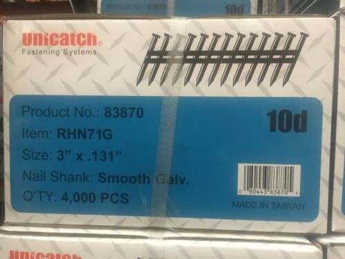 "3"" x .131 SMOOTH GALV. 21` Framing Nails 4000/Case Hitachi,DeWalt,Senco"