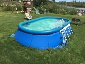 Intex inflatable above ground pool 18x10