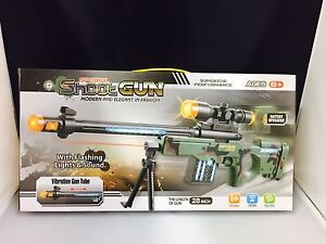 KID'S TOY SNIPER RIFLE CAMOUFLAGE WITH LIGHTS AND SOUNDS  AND VIBRATION