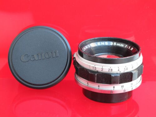 "Leica SM LTM Canon rangefinder 35mm f:1.5 lens with caps, US SELLER ""LQQK"""