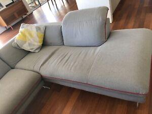 Grey L-shape lounge suite