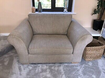 Next Snuggle Seat Armchair Sofa Natural Chunky Weave Stamford Love Seat Chair