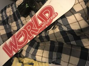 World industries snowboard and boots