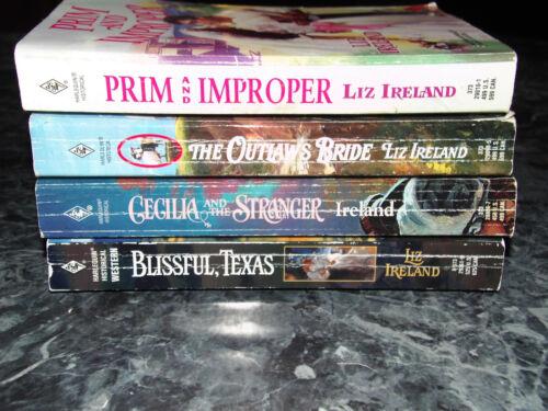 Harlequin Western Liz Ireland lot of 4 western historical romance paperbacks