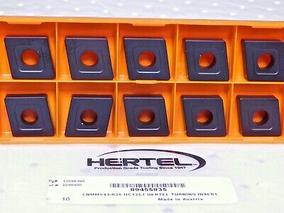 Hertel Carbide Turning Inserts Cnmm643 R25 Grade-hc125t Qty-10 11696390