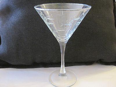 Etched Fish Martini Glasses - Barware - Dining - Coastal Home/Bar Decor (Martini Decorations)
