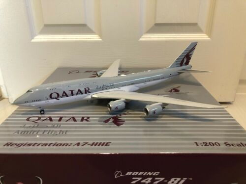 1:200 Inflight / Phoenix Eagle QATAR AIRWAYS Boeing 747-8i A7-HHE RARE Sold Out!