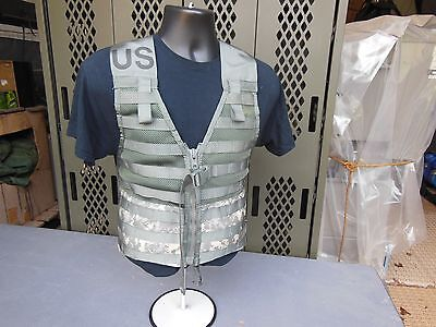 MILITARY SURPLUS FIGHTING LOAD CARRIER VEST MOLLE II ACU ARMY CAMPING HUNTING US