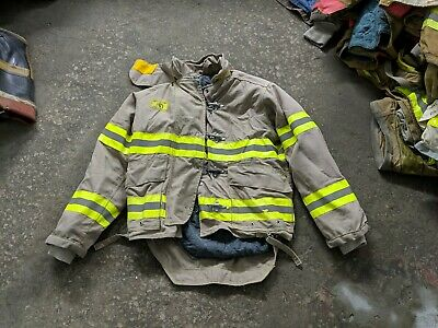 Tan Morning Pride Turnout Firefighting Gear Coat 40 Chest 2836 Sleeve 33.5