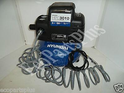 Hyundai Portable 3gal Air Compressor 100 Psi 13 Hp Motor 2900 Rpm 120v Hpc3010